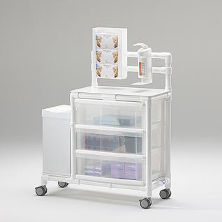 Stationswagen Pflegewagen platzsparend Hygiene; als MRT Produkt auch im Shop - Vorschau 3