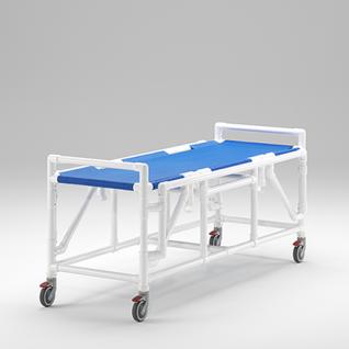 Transportliege absenkbare Seitenschutzlehnen Duschliege; als MRT Produkt auch im Shop - Vorschau 3
