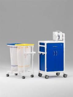 Stationswagen Pflegewagen Wäschesammler Hygienezubehör RCN