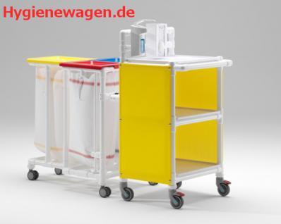 Rostfreie Wäschewagen Stationswagen 2er-Wäschesammler Pflege Hotels Bäder