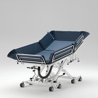 Duschwagen 400 kg, BEATMUNGSPATIENTEN, tiefer Einstieg, 5 J Garantie, hydraulische Duschliege - Vorschau 2