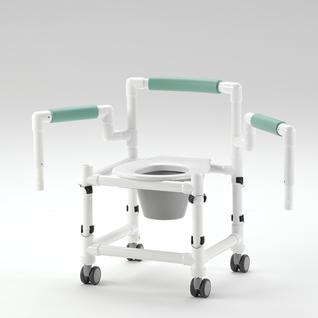 REISE-Profi 150 kg faltbarer Duschstuhl höhenverstellbar mit Rollen Toilettensitzerhöhung Toilettenstuhl - Vorschau 4