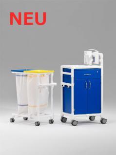Stationswagen Pflegewagen Wäschesammler Hygienezubehör RCN - Vorschau 1