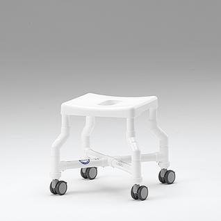 Badhocker mit Rollen 150 kg Kippschutz grosse Sitzfläche gepolstert - Vorschau 2