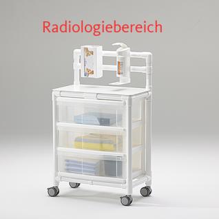 MRT Stationswagen Radiologie Pflegewagen platzsparend Hygiene RCN - Vorschau 2