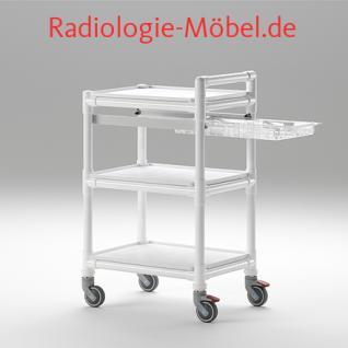 MRT Stationswagen Pflegewagen mit Waschschüssel Radiologie taugliche Möbel - Vorschau 4