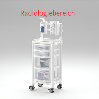 MRT Stationswagen mit Abfalleimer Radiologie platzsparend Hygiene RCN - Vorschau 3