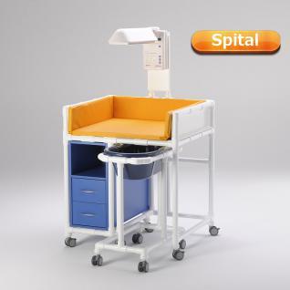 Klinik: WK 7 - rollbare Wickelkommode Badewanne Wickeltisch Wärmestrahler RCN - Vorschau 1
