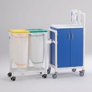 5 Tage versandfertig: Stationswagen Pflegewagen Wäschesammler Hygienezubehör RCN