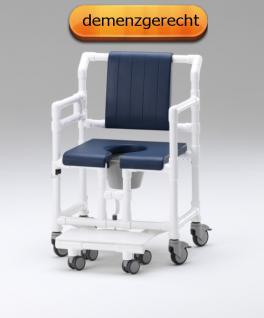 XXL 250 kg rollbarer Duschtoilettenstuhl Toilettensitzerhöhung Toilettenstuhl Profi-Duschstuhl demenzgerecht