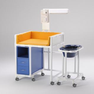 Klinik: WK 7 - rollbare Wickelkommode Badewanne Wickeltisch Wärmestrahler RCN - Vorschau 5