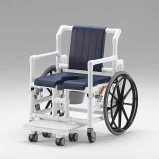XL 175 kg Duschrollstuhl Toiletten-Rollstuhl Transportstuhl Profi-Duschstuhl - Vorschau 2