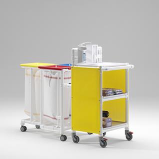 Rostfreie Wäschewagen 2er-Wäschesammler Pflege Hotels Bäder - Vorschau 3