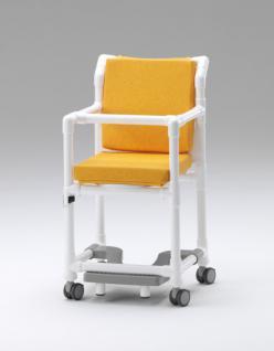 Transportstuhl, Toilettenstuhl 150 kg mit Polster Toilettensitzerhöhung Zimmerstuhl Duschstuhl Nachtstuhl Profi - Vorschau 2