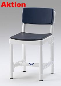 Badhocker 150 kg grosse Sitzfläche Duschhocker gepolsterte Rückenlehne - Vorschau 1