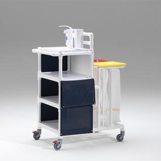 Rostfreie Wäschewagen Wäschesammler Pflege Hotels Bäder - Vorschau 5