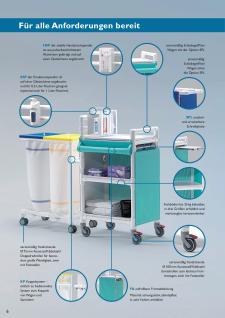 MRSA Stationswagen Pflegewagen Wäschesammler Hygienezubehör RCN - Vorschau 3