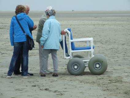 Sandy: Gehwagen Strandrollstuhl Gehtrainer Geländerollstuhl zerlegbar - Vorschau 3