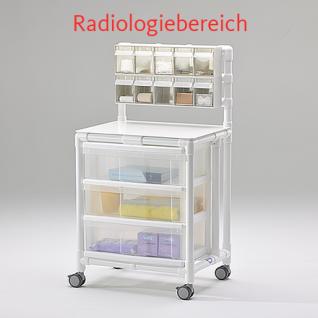 MRT Stationswagen Radiologie Pflegewagen transparent Hygiene RCN - Vorschau 1