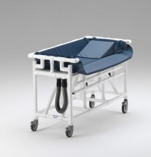 Kinder Duschwagen 160x75 hoher Wasserstand Duschliege Transportliege