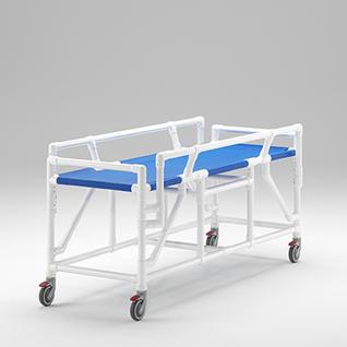 Transportliege Duschliege absenkbare Seitenschutzlehnen - Vorschau 3