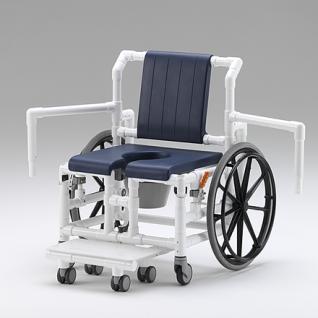 XL 175 kg Duschrollstuhl Toiletten-Rollstuhl Transportstuhl Profi-Duschstuhl - Vorschau 4