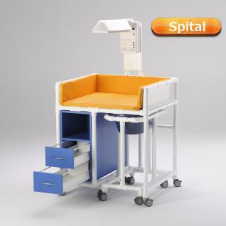 Klinik: WK 7 - rollbare Wickelkommode Badewanne Wickeltisch Wärmestrahler RCN - Vorschau 2