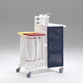 MRSA Stationswagen Pflegewagen Wäschesammler Hygienezubehör RCN - Vorschau 5