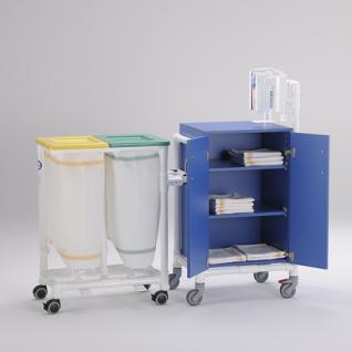 Stationswagen Pflegewagen Wäschesammler Hygienezubehör RCN - Vorschau 5