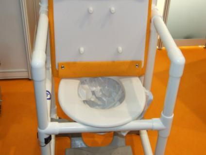 Transportstuhl, Toilettenstuhl 150 kg mit Polster Toilettensitzerhöhung Zimmerstuhl Duschstuhl Nachtstuhl Profi - Vorschau 5
