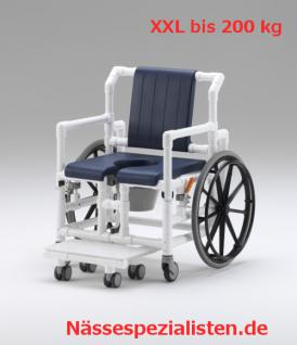 XXL 200 kg Duschrollstuhl Toilette Profi-Duschstuhl Komfortklasse - Vorschau