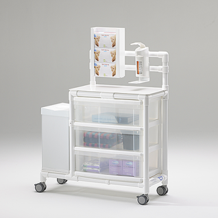 Stationswagen Pflegewagen mit Spritzenschütte Hygiene RCN; als MRT Produkt auch im Shop - Vorschau 3