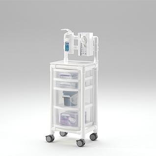 Stationswagen Pflegewagen platzsparend Hygiene; als MRT Produkt auch im Shop - Vorschau 4