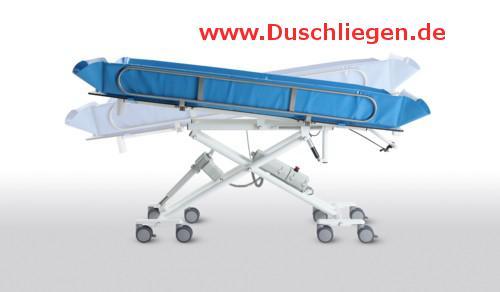 Hydraul. Duschwagen kippbar ERSCHÜTTERUNGSARM höhenverstellbare Duschliege