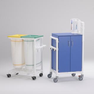 Stationswagen Pflegewagen Wäschesammler Hygienezubehör RCN - Vorschau 2