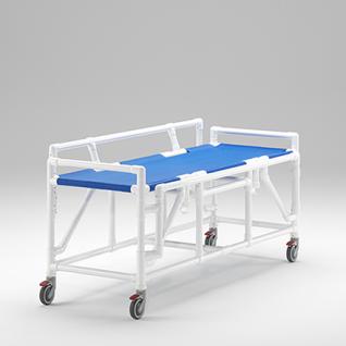 Transportliege absenkbare Seitenschutzlehnen Duschliege; als MRT Produkt auch im Shop