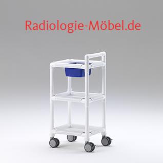 MRT Stationswagen Pflegewagen mit Waschschüssel Radiologie taugliche Möbel