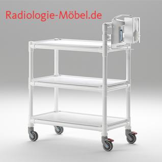MRT Stationswagen Pflegewagen mit Waschschüssel Radiologie taugliche Möbel - Vorschau 5