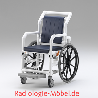 MRT Rollstuhl, Radiologie, Selbstfahrer, Duschrollstuhl, Profi-Stuhl - Vorschau 1