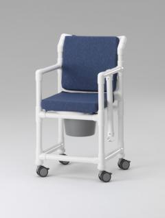 Transportstuhl, Toilettenstuhl 150 kg mit Polster Toilettensitzerhöhung Zimmerstuhl Duschstuhl Nachtstuhl Profi - Vorschau 3