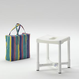 Duschhocker zerlegbar Reisehocker inkl. Tasche und Polster - Vorschau 1