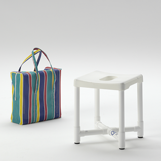Duschhocker zerlegbar Reisehocker mit Tasche - Vorschau 1