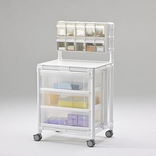 Stationswagen Pflegewagen mit Spritzenschütte Hygiene RCN; als MRT Produkt auch im Shop - Vorschau 1