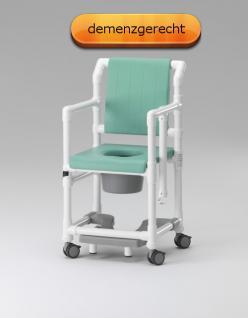 Profi-Dusch-Toilettenstuhl Toilettensitzerhöhung Komfortklasse Sicherheitsgurt demenzgerecht