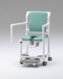 Komfort-Toilettenstuhl 150 kg Zimmerstuhl Toilettensitzerhöhung Transportstuhl Nachtstuhl Duschstuhl mit Rollen Profi - Vorschau 4
