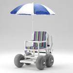 Sandy: Gehtrainer Strandrollstuhl Gehwagen RCN zerlegbar