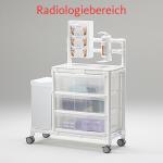 MRT Stationswagen mit Abfalleimer Radiologie platzsparend Hygiene RCN