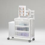 Stationswagen Pflegewagen platzsparend Hygiene RCN; als MRT Produkt auch im Shop