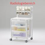 MRT Stationswagen Radiologie Pflegewagen mit Spritzenschütte Hygienewagen RCN