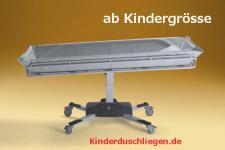 Kindergrösse 160 cm optimierte ÜBERFARHBARKEIT elektrisch 150 kg Duschwagen Duschliege